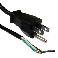 120v 3 prong grounded power cord
