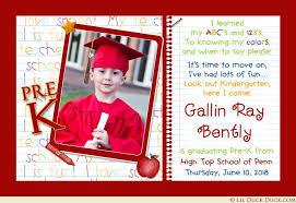 kindergarten graduation invitations photo kindergarten graduation invitation pre k elementary