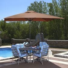 Offset Patio Umbrella Clearance Lighting Patio By Rectangular Umbrella With Solar Powered