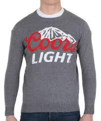 coors light logo men u0027s sweater