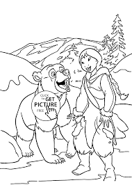 bear coloring pages kids friends printable free