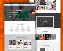 cool elearning education website free psd template download