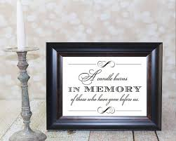 in loving memory items a candle burns in memory of those who before us 8 x 10