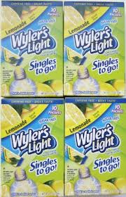 wyler s light singles to go nutritional information wyler s light lemonade singles to go 4 boxes check out the image