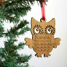 our personalized wooden owl ornament is for babys