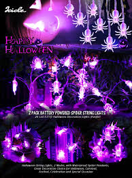amazon com icicle spider halloween string lights 2 pack battery