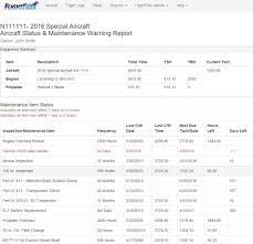 Aircraft Maintenance Tracking Spreadsheet Electronic Aircraft Maintenance Tracking Marketplace Forum