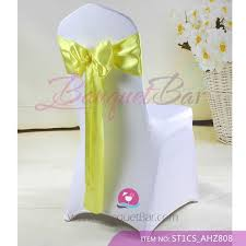 yellow chair sashes spandex cocktail table covers stretch chair covers for wedding