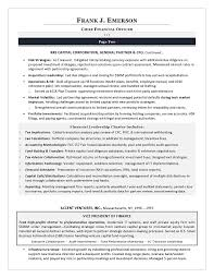cfo resume exles sle cfo resume exle of executive resume trends 2015
