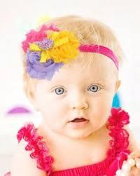 baby hair band sky blue baby headbands crochet baby hair band kids flower