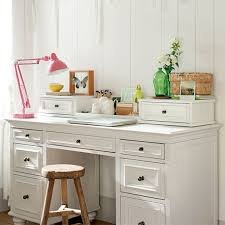 appealing white desk with drawers and hutch chelsea desk hutch pbteen