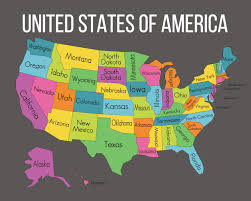map usa states names printable map of us states without names maps of usa with regard