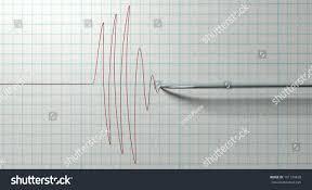 closeup polygraph lie detector test needle stock illustration