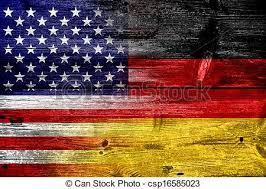 plank artwork usa and germany flag painted on wood plank texture clip