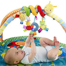 3m plush baby rattle toys mobile crib stroller car bed worm toy
