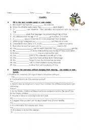 english worksheets modal verbs worksheets page 48