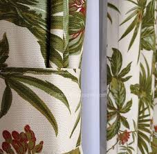 ready made curtains and palm tree living room green