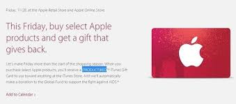 black friday deals on gift cards apple handing out itunes gift cards for ipad mac sales on black