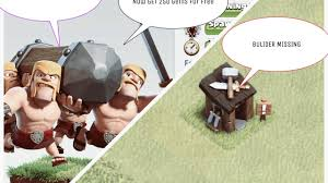 clash of clans new update builders missing new form of barbarians