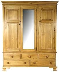 Pine Bookcase With Doors Wardrobes Solid Pine Wardrobe With 2 Drawers Masons Solid Pine
