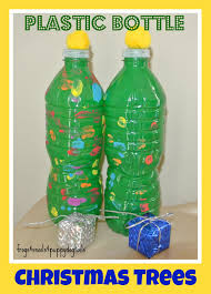 water bottle christmas trees fun craft for the kids fspdt