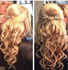 half updo prom hairstyles half up down ball hairstyles long hair