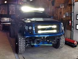 f150 bumper light bar 30 inch double led light bars behind the grille brackets for 2009