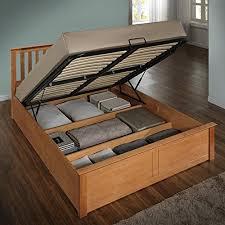 king size ottoman beds uk happy beds phoenix ottoman bed oak finish modern frame bedroom