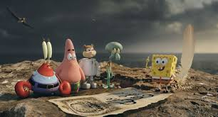 review otherwise charming u201cspongebob movie u201d drowned by live