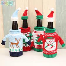 zljq sweater wine bottle cover fashion bottle