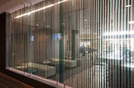 modern beaded curtains in fat pearl style renovate the entrance