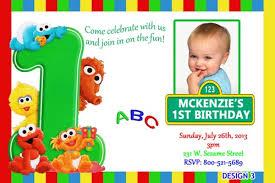 birthday invites awesome sesame street 1st birthday invitations