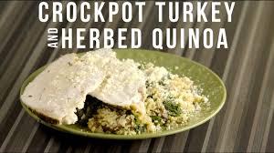 herbed turkey recipes thanksgiving crockpot turkey breast u0026 herbed quinoa stuffing youtube