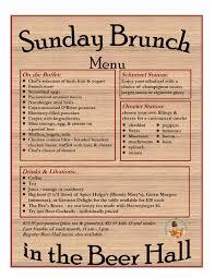 menu for brunch brunch menu plattduetsche park restaurant