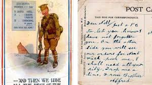 break up letter to great britain bbc iwonder how did 12 million letters reach ww1 soldiers each week the frontline postcard that arrived in newhaven 100 years later