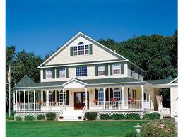 front porch home plans farmhouse style 3 story 4 bedrooms s house plan with 2431 total