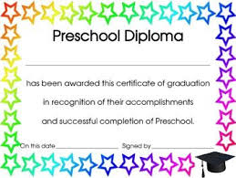preschool graduation diploma 16 best preschool diploma images on graduation ideas