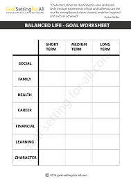 Goal Worksheets For Adults Free Resume Sample And Format Browse Hundreds Of New Free