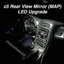 corvette c5 interior 1997 2004 c5 corvette interior rear view mirror map white led