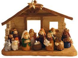 amazon com miniature kids christmas nativity scene with creche