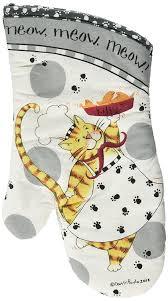 amazon com kay dee designs cotton oven mitt happy cat home