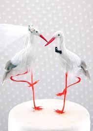 stork cake topper crane wedding cake topper seaside and groom bird cake
