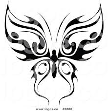 royalty free tribal butterfly logo by vector tradition sm 3800