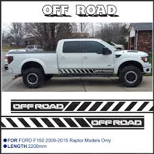 Ford Pickup Raptor 2011 - free shipping 2 pc off road side stripe graphic vinyl sticker for