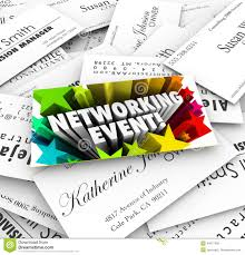 Event Business Cards Networking Event Business Cards Mixer Contacts Meeting Stock