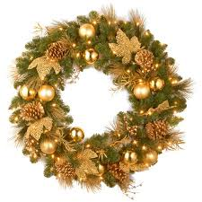 battery operated wreath national tree pre lit 24 decorative collection elegance wreath with