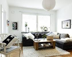 Living Room Ideas With Black Leather Sofa Living Room Charming Small Living Room Design With Corner Black