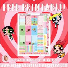 free planner printable powerpuff girls u2013 organized potato