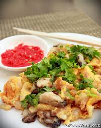 chien cuisine oyster omelette or chien malaysian food recipes