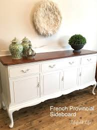 french provincial sideboard white and timber lilyfield life